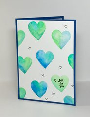 Blue and Green Valentine