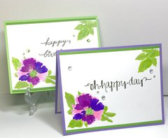 Layered Stamping Floral Cards