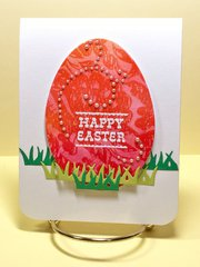 Easter Egg with Watercolor Lift