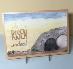 Easter He Is Risen card