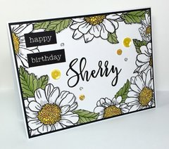 Spring Daisy Birthday card