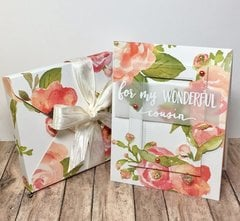 Floral Card with Box