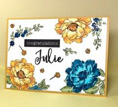 Floral Retirement Card