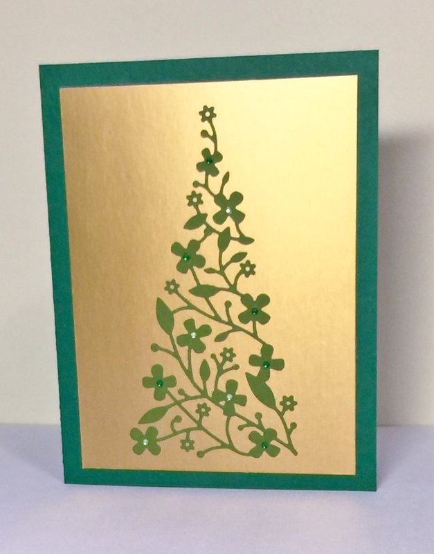 Delicate Christmas tree card