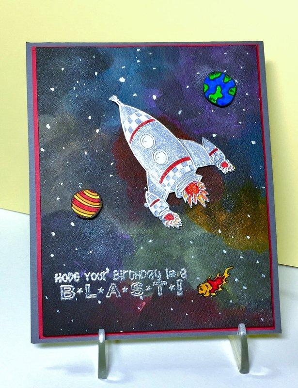 Galaxy Birthday card