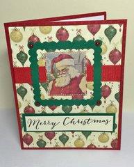 Santa framed