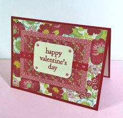 Layered Valentine card