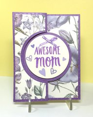 Awesome Mom Flip Card
