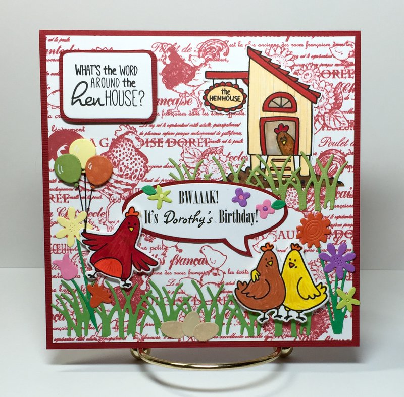 Hen House Birthday card