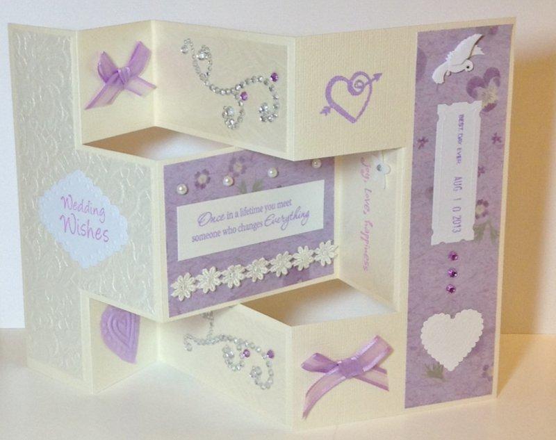 Shutter-fold wedding card