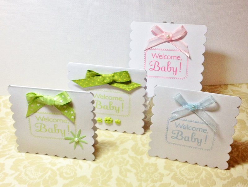 Welcome Baby Gift Enclosure Cards