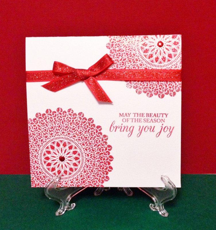 Glitter Medallion Holiday Card