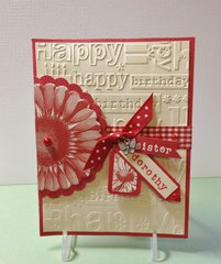 Birthday Embossed Card