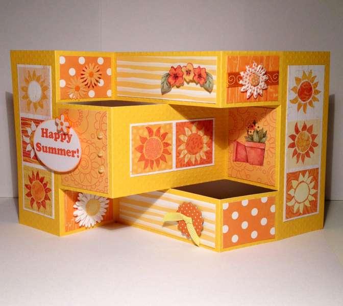 Happy Summer Tri-fold Card
