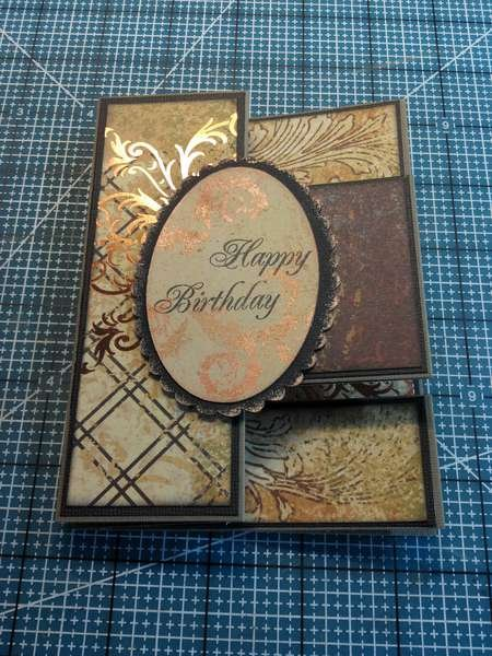 Tri-fold card for Grandpa 90th Birthday