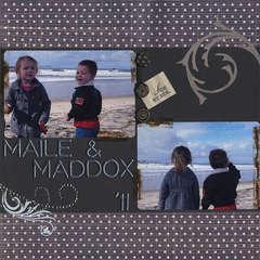 Maile & Maddox at the beach