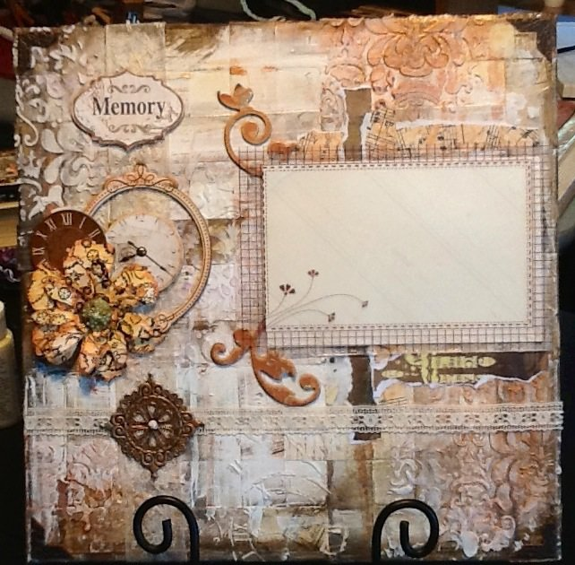 12x12 Mixed media canvas for photo