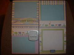 Baby boy album 6x6 pages 1-4
