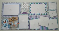 Snowman winter 2 page layout