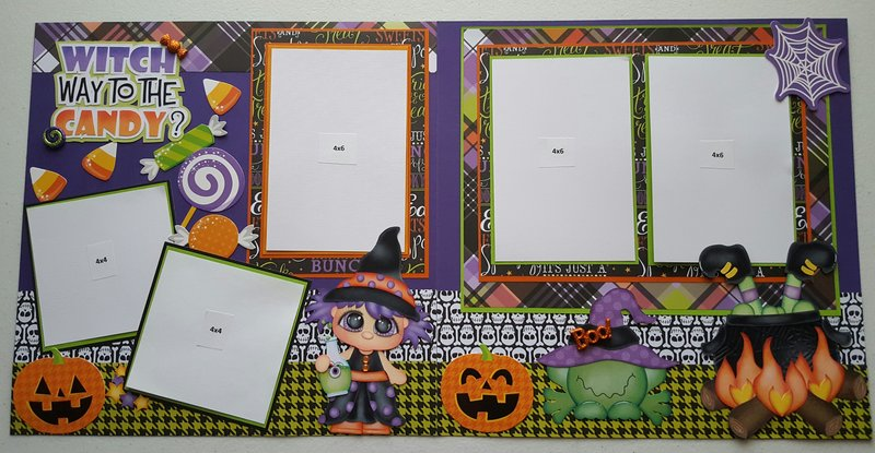 Halloween witch 2 page layout