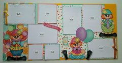 Birthday two page layout