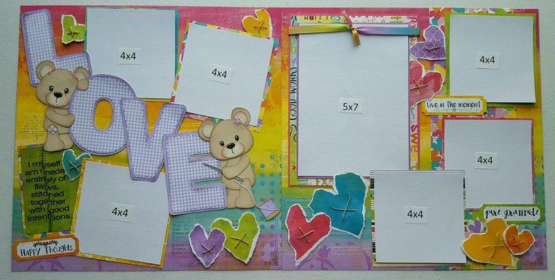 Snapshot Love 2 page Layout