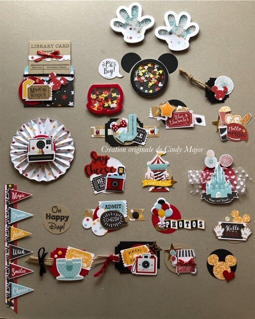 Disney Handmade Embellishments - Remember the Magic