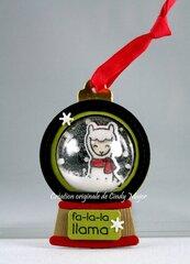Llama Christmas Tag