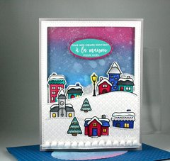 Winter Village Shaker Card