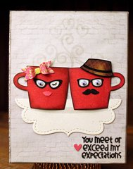 Mr. & Mrs. Coffee Cup!!  =)