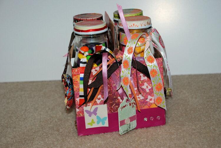 altered starbucks jars