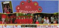 Aly's kindergarten graduation