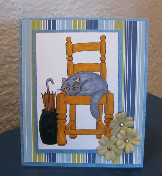 Cottage Cat card