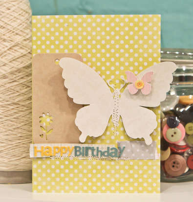 Studio Calico April Kit - City of Lights - Happy Birthday card