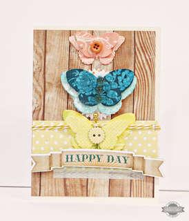 Studio Calico June kit - So Cal - Happy Day card