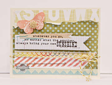 Studio Calico June kit - So Cal - Sunshine card