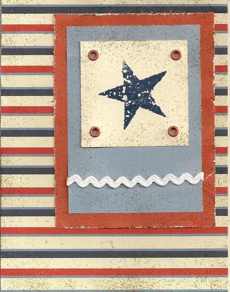 Star & Stripes card