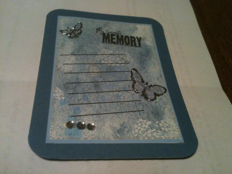 Project Life journal card for Jessica's swap
