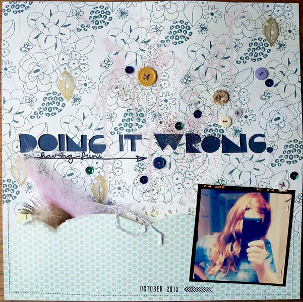 doing it wrong *Cocoa Daisy November kit*