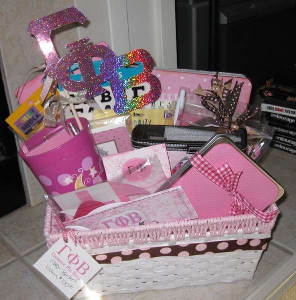 Sorority gift basket