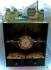 """Steampunk Spells Apothecary Cabinet  ~~Scraps of Darkness October """"Gothic"""" Kit~~"""