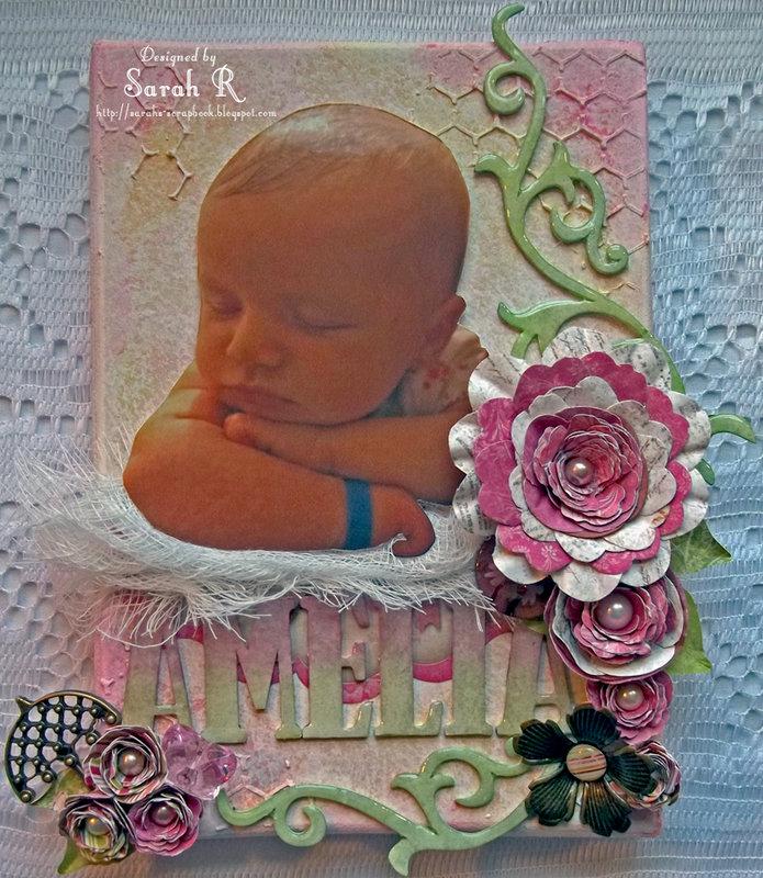 Amelia - Mixed-Media Mini-Canvas ~~Imaginarium Designs~~