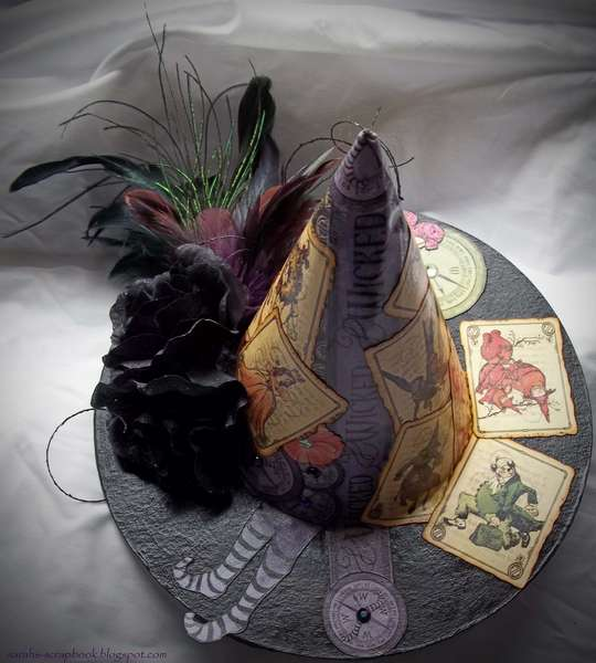 """Altered Witch's Hat - Graphic 45 """"The Magic of Oz"""""""