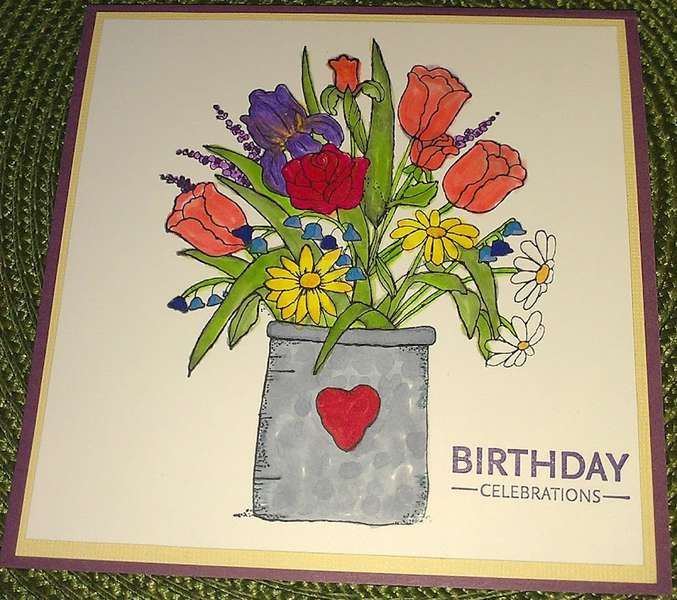 Spring flowers - Birthday card