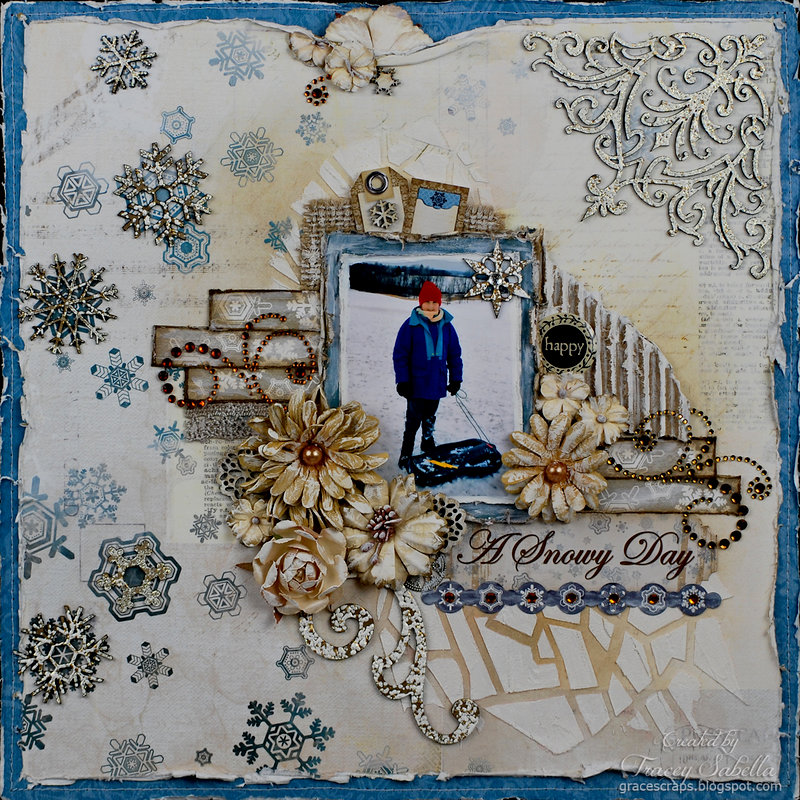 """""""A Snowy Day"""" Layout by DT Tracey Sabella"""