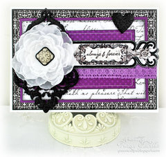 Wedding Card with Glittered Chipboard
