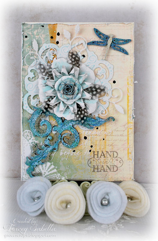 Mixed Media Anniversary Card Featuring Leaky Shed Studio Chipboard