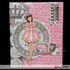 Julie Nutting Princess Canvas by Juliana Michaels