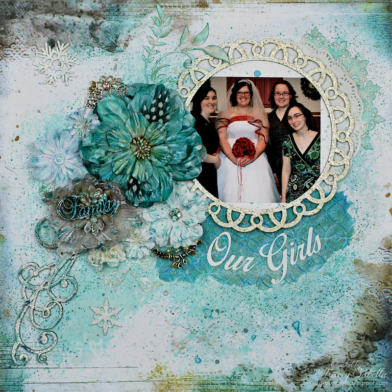 Our Girls ~ Glitz and Grunge Chipboard Techniques