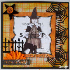 Halloween Vintage Card for the Flying Unicorn Product Creative Team